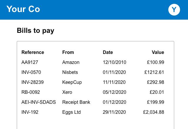 xero-bills-to-pay
